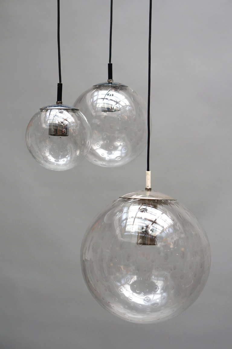 RAAK Three-Globe Chandelier In Good Condition For Sale In Antwerp, BE