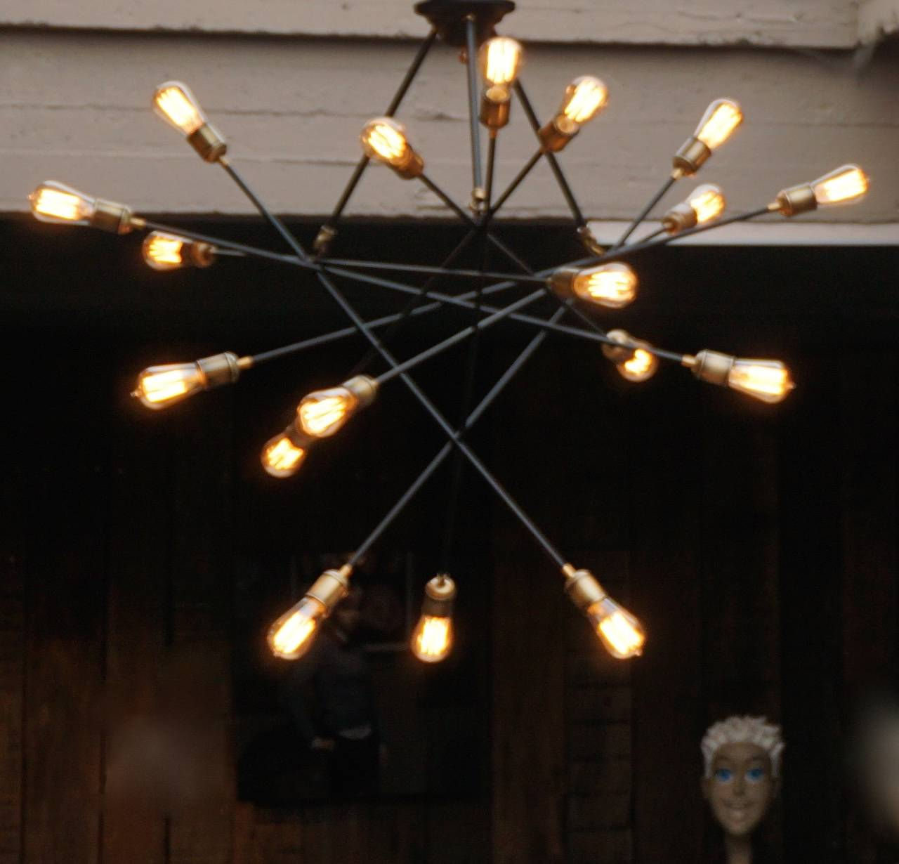Contemporary Two Large Italian 1950s Chandeliers