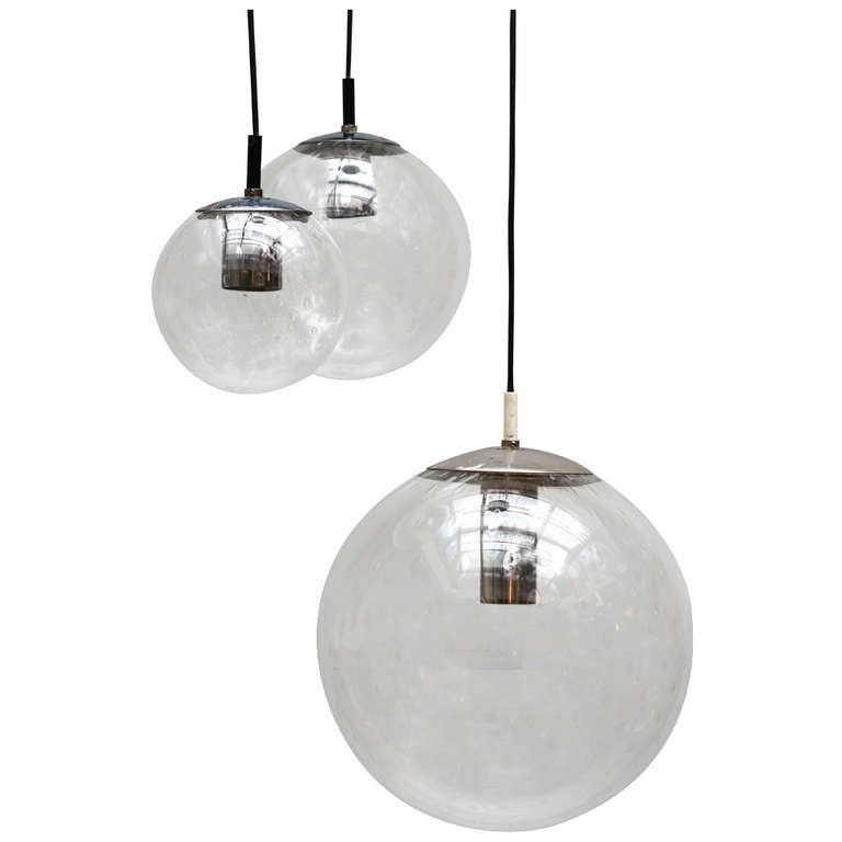 RAAK Three-Globe Chandelier