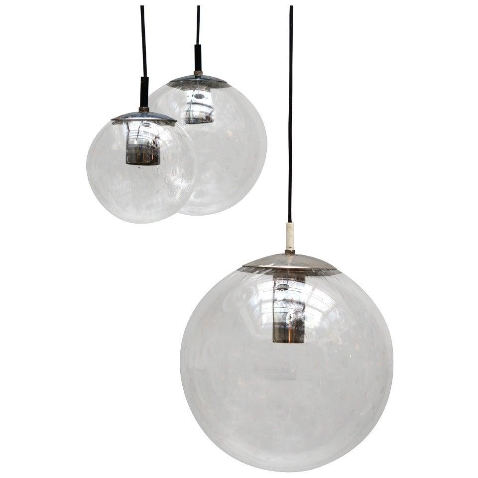 RAAK Three-Globe Chandelier