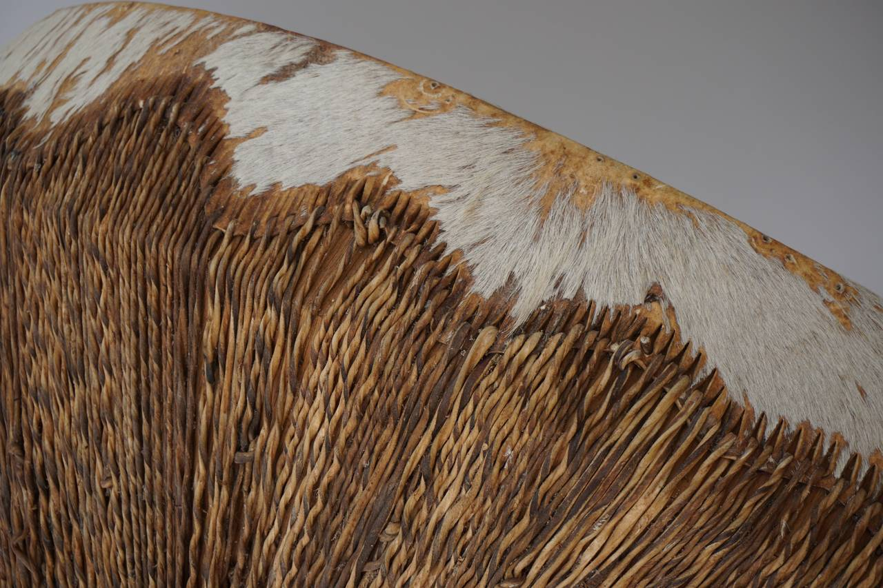 Animal Skin African Coffee Table For Sale