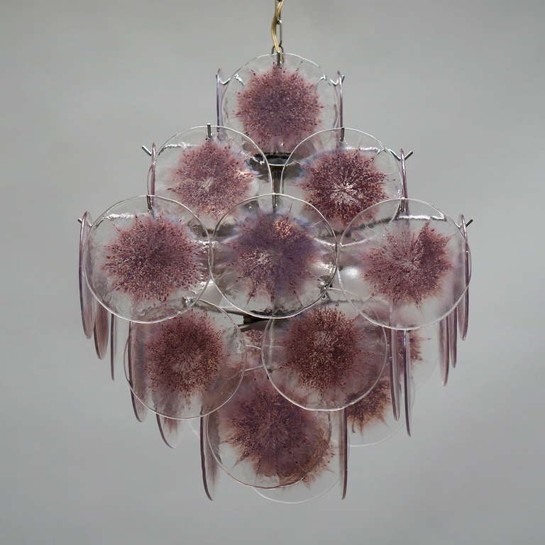 Italian Murano Glass Chandelier, Italy For Sale