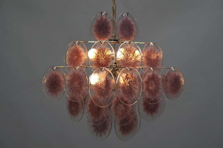 Murano Glass Chandelier, Italy For Sale 1