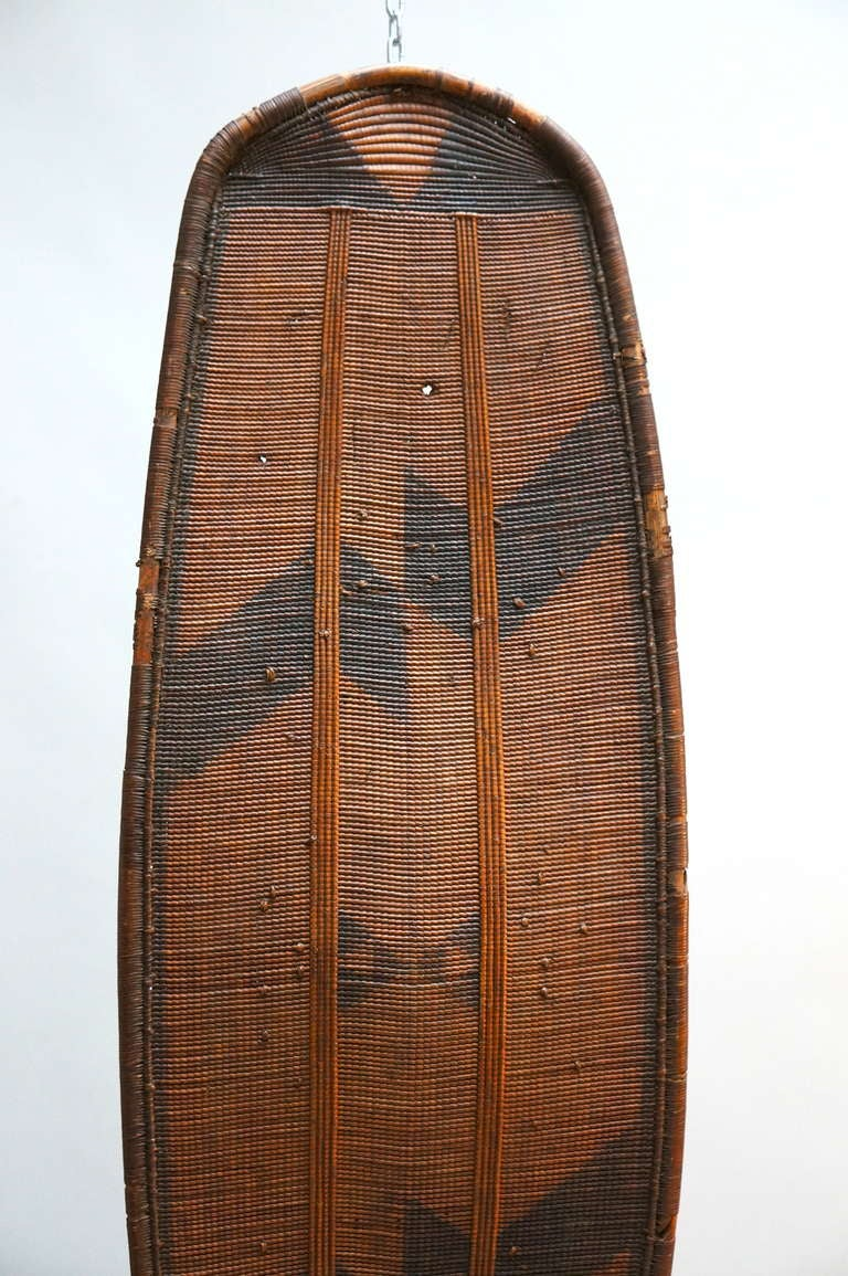 20th Century African Woven Cane Shield from the Congo For Sale