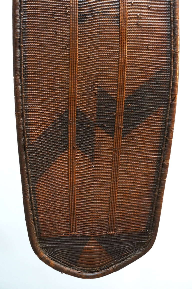 African Woven Cane Shield from the Congo For Sale 2