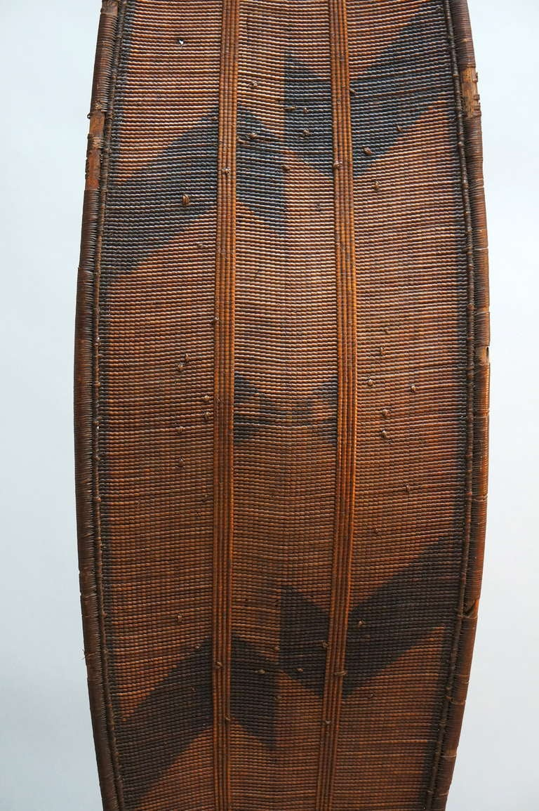 African Woven Cane Shield from the Congo In Good Condition For Sale In Antwerp, BE