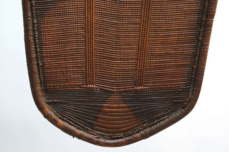 African Woven Cane Shield from the Congo For Sale 1