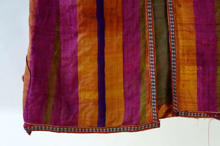 Chapan Mantel of Silk Ikat from Uzbekistan For Sale 1