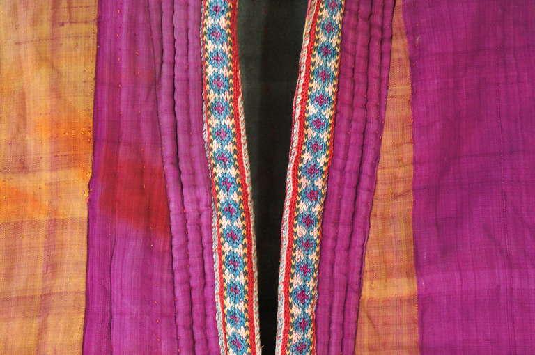Chapan Mantel of Silk Ikat from Uzbekistan For Sale 2