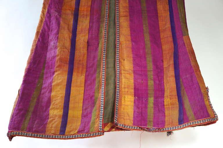 Chapan Mantel of Silk Ikat from Uzbekistan For Sale 4