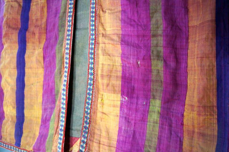 Chapan Mantel of Silk Ikat from Uzbekistan For Sale 5