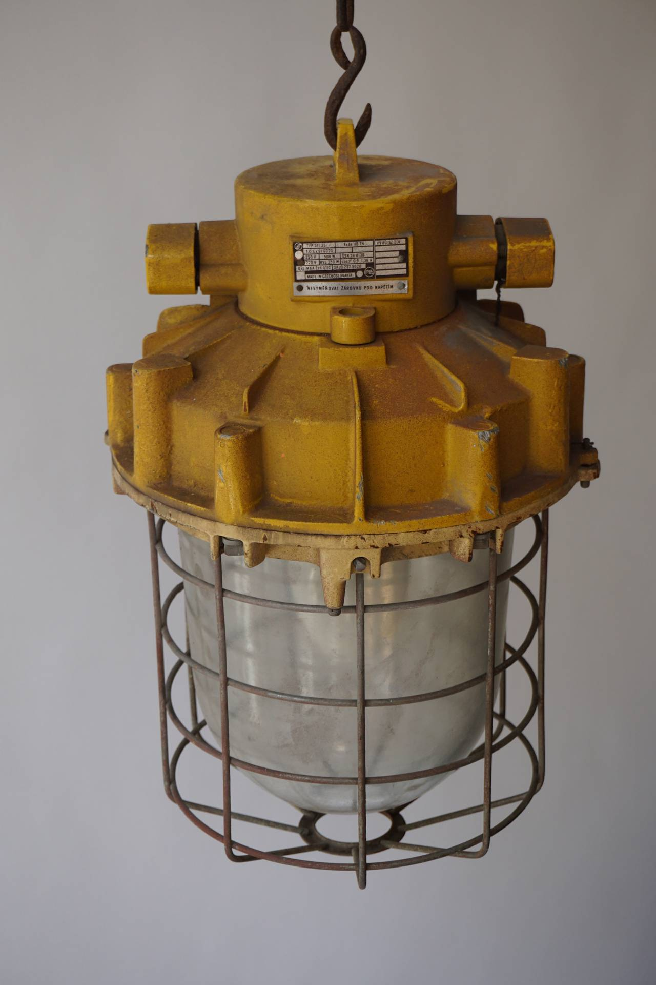 Set of Four Large Industrial Lights For Sale 1