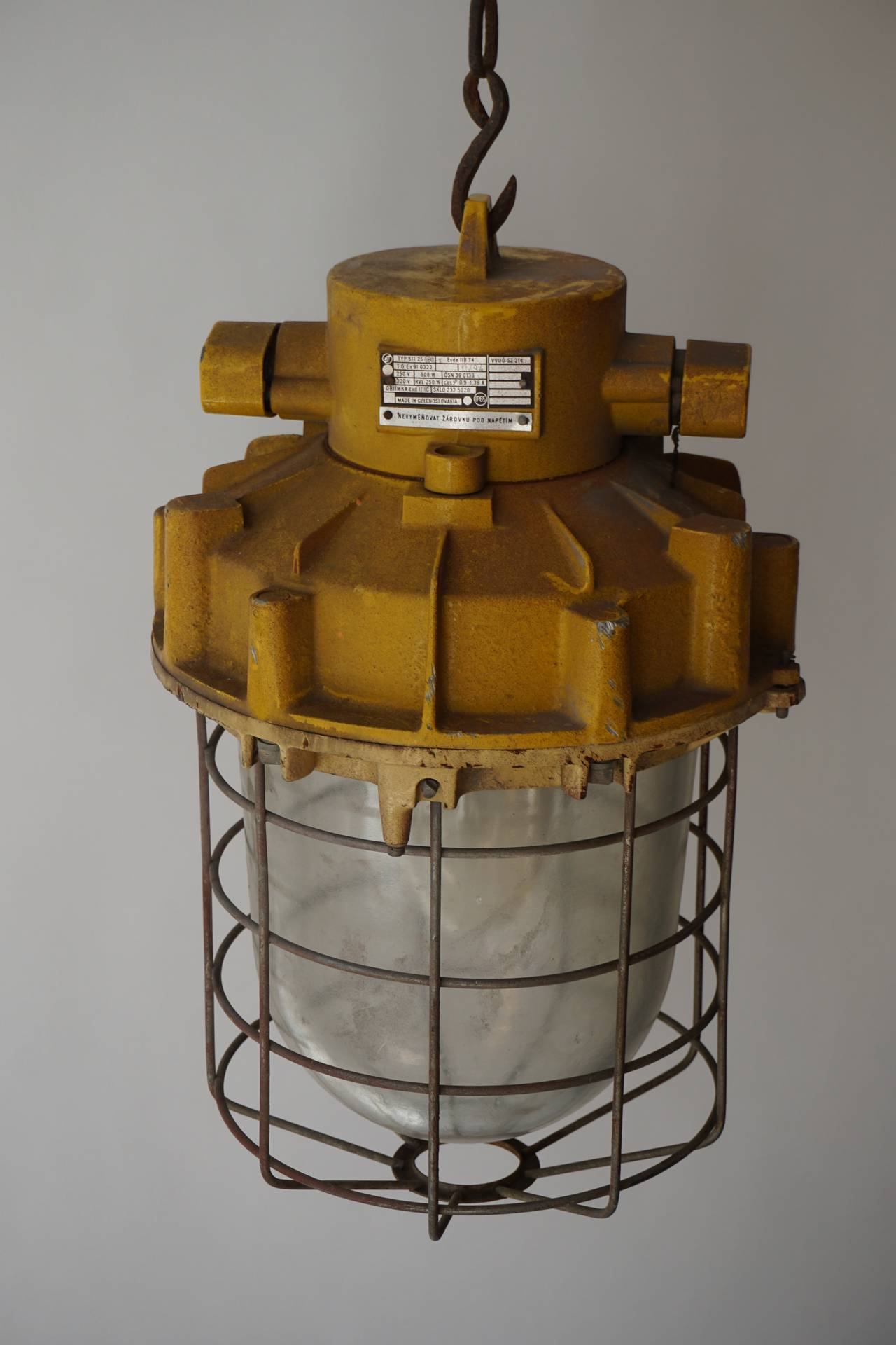 Set of Four Large Industrial Lights For Sale 3