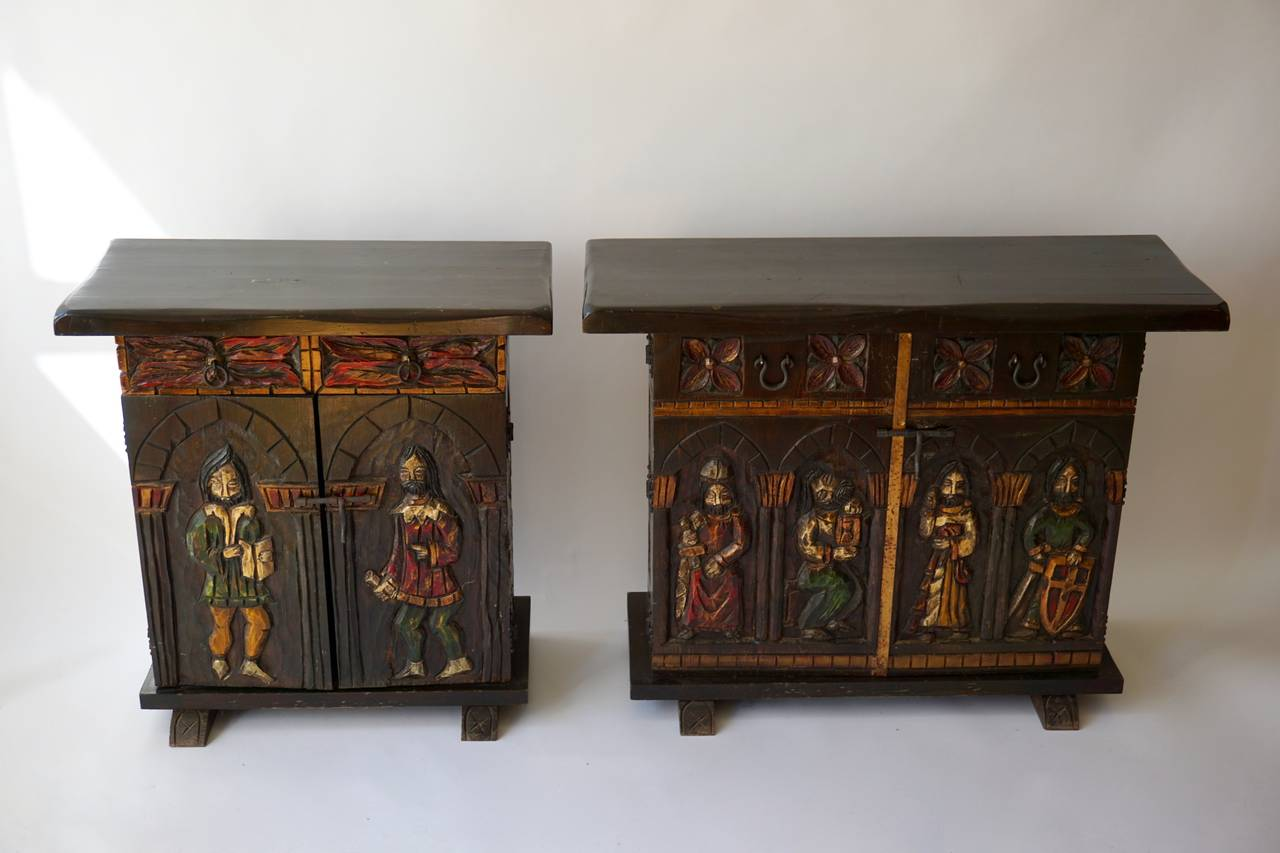 20th Century Set of Two Sideboards and One Chair For Sale