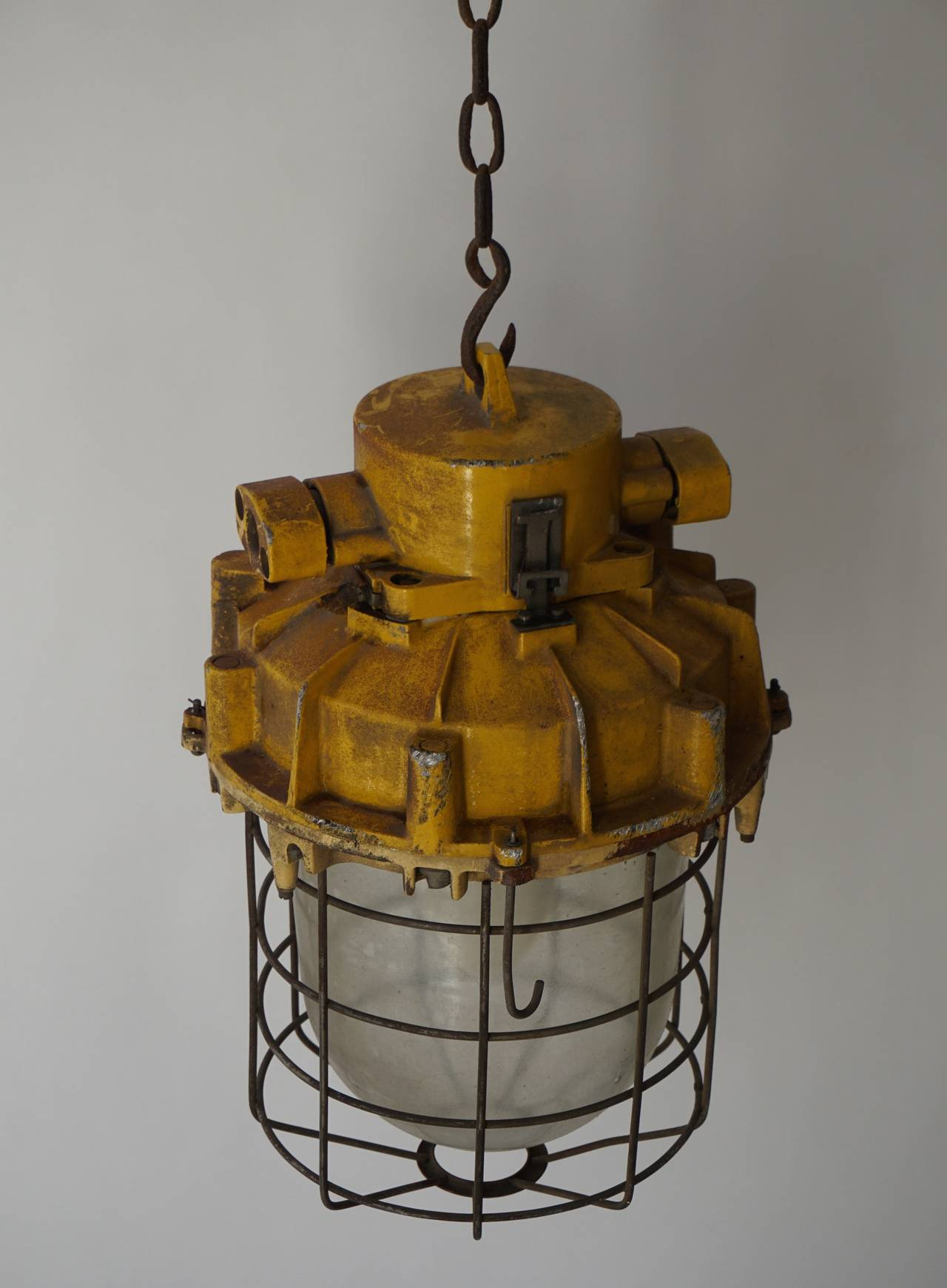 Set of four Industrial lights.