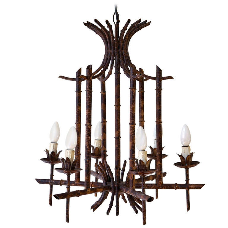 French Art Deco Chandelier in the Style of Jacques Adnet