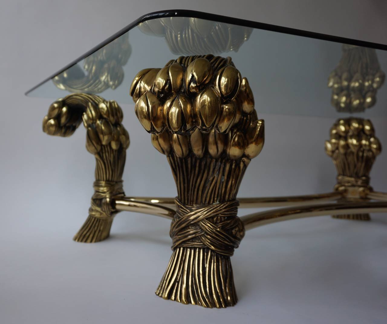 Glass Coffee Table in the Manner of Maison Jansen For Sale 1
