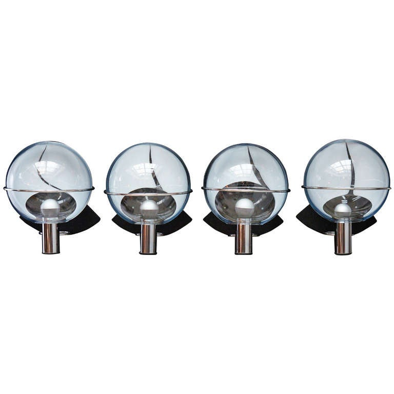 Four Murano Wall Lamps by Toni Zuccheri