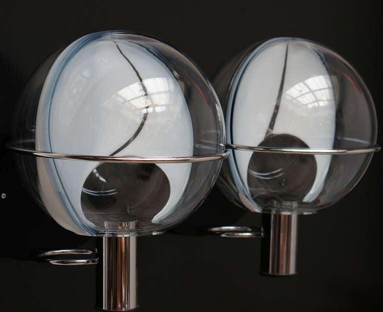Set of Four Murano Wall Lamps by Toni Zuccheri 3