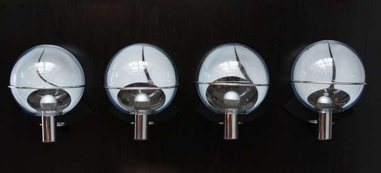 Set of Four Murano Wall Lamps by Toni Zuccheri 2