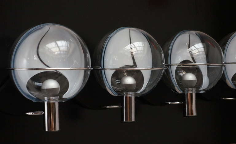 Set of Four Murano Wall Lamps by Toni Zuccheri 5