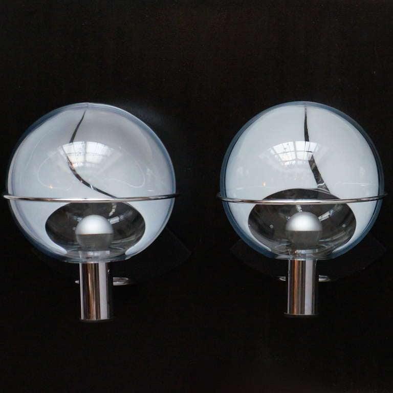 Set of Four Murano Wall Lamps by Toni Zuccheri 10