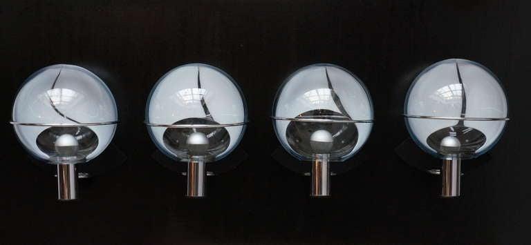 Set of Four Murano Wall Lamps by Toni Zuccheri 6