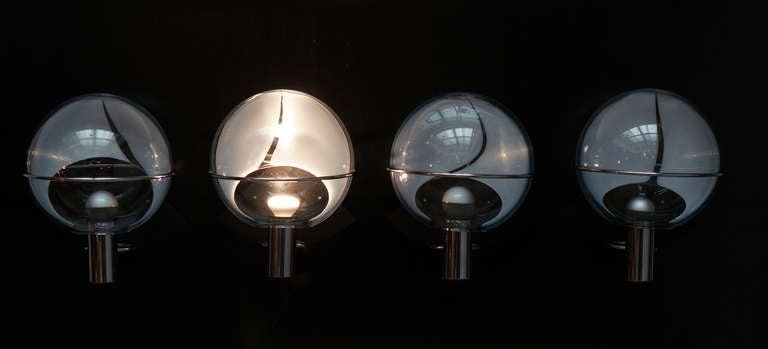 Set of Four Murano Wall Lamps by Toni Zuccheri 8