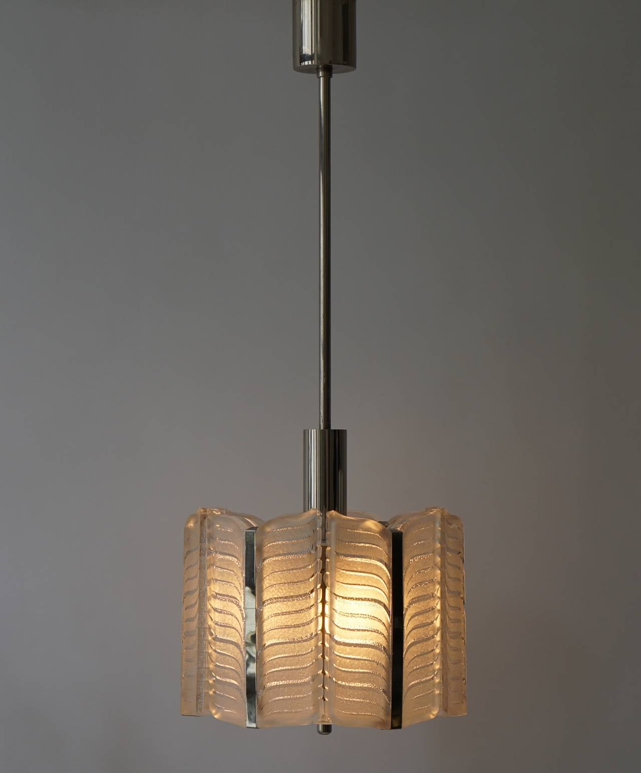 Italian Murano Glass Pendant Light For Sale 1