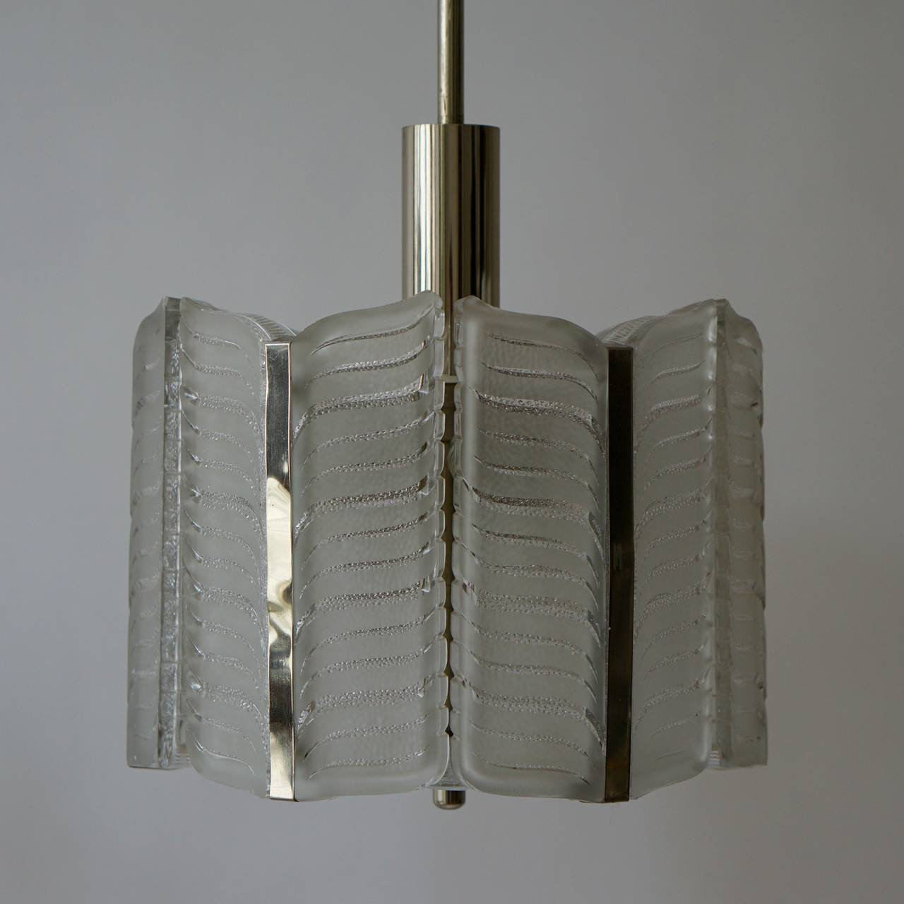 Italian Murano Glass Pendant Light For Sale 4