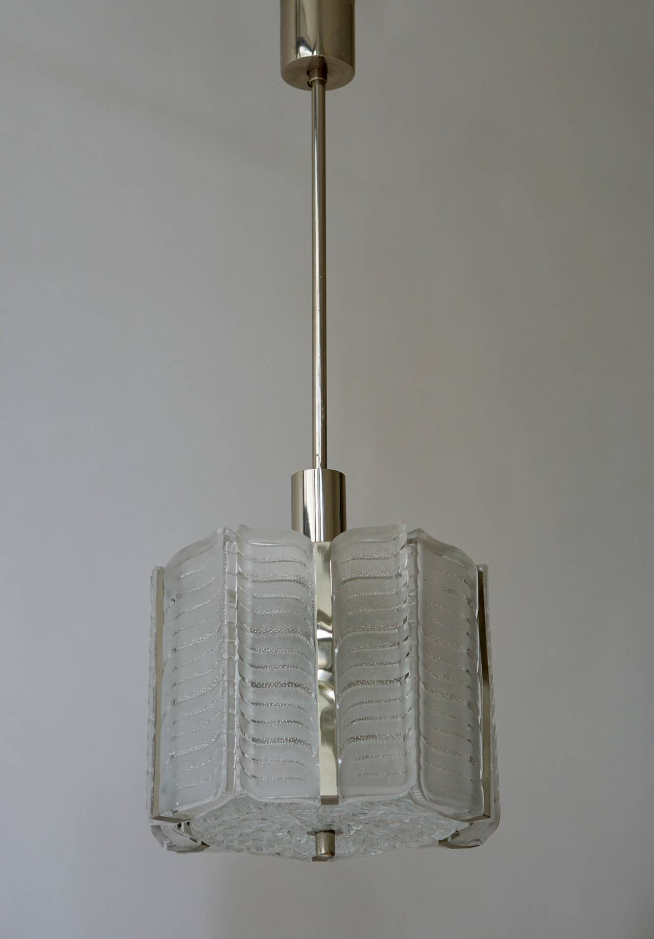 Italian Murano Glass Pendant Light For Sale 2