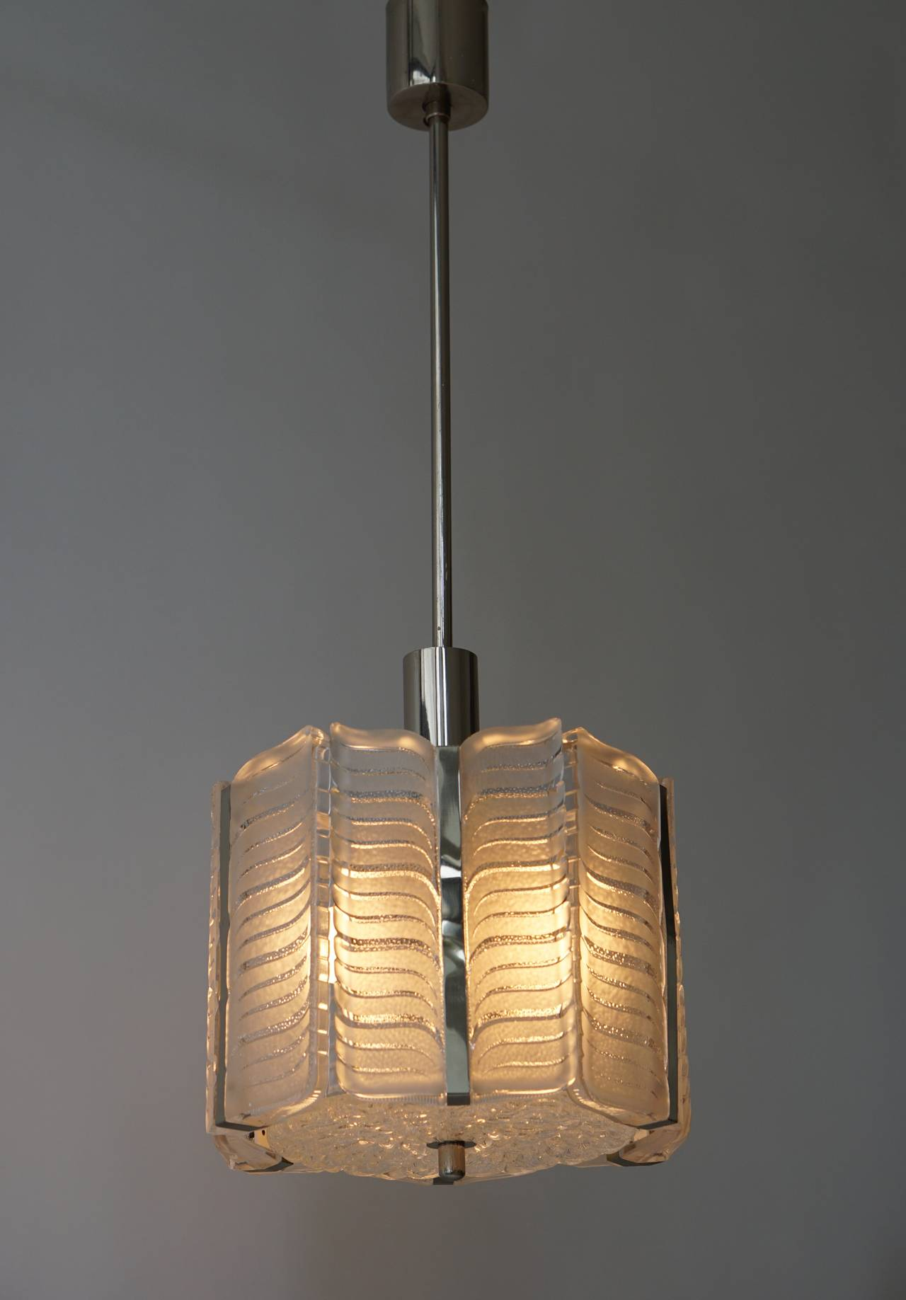 20th Century Italian Murano Glass Pendant Light For Sale