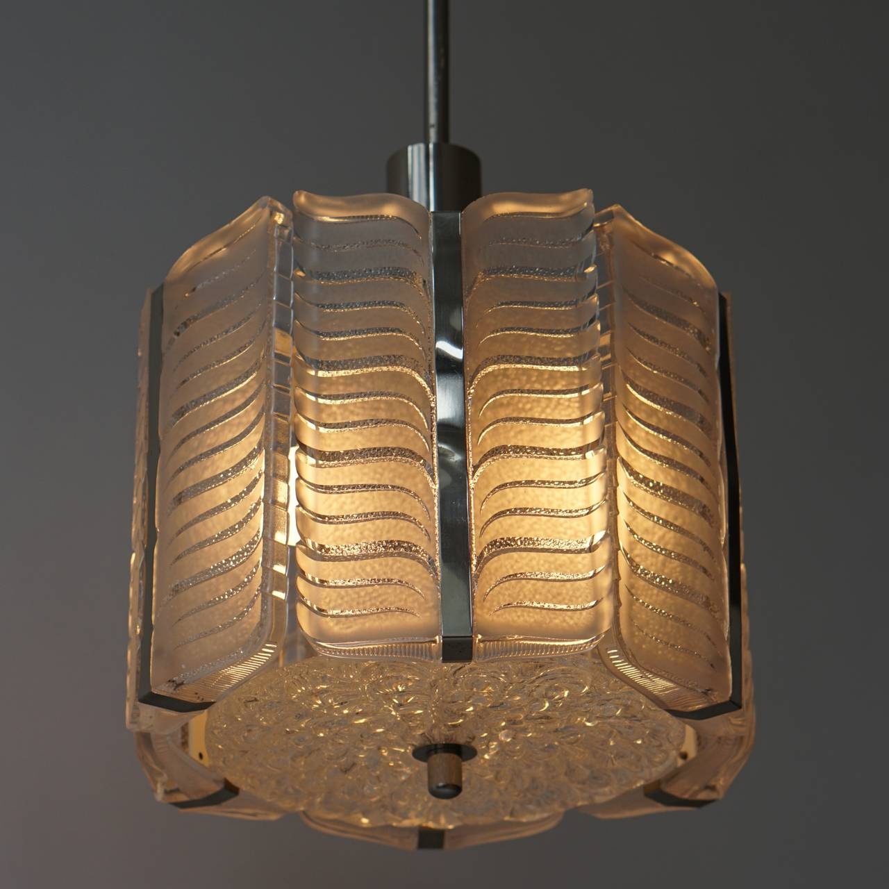 Italian Murano Glass Pendant Light In Excellent Condition For Sale In Antwerp, BE