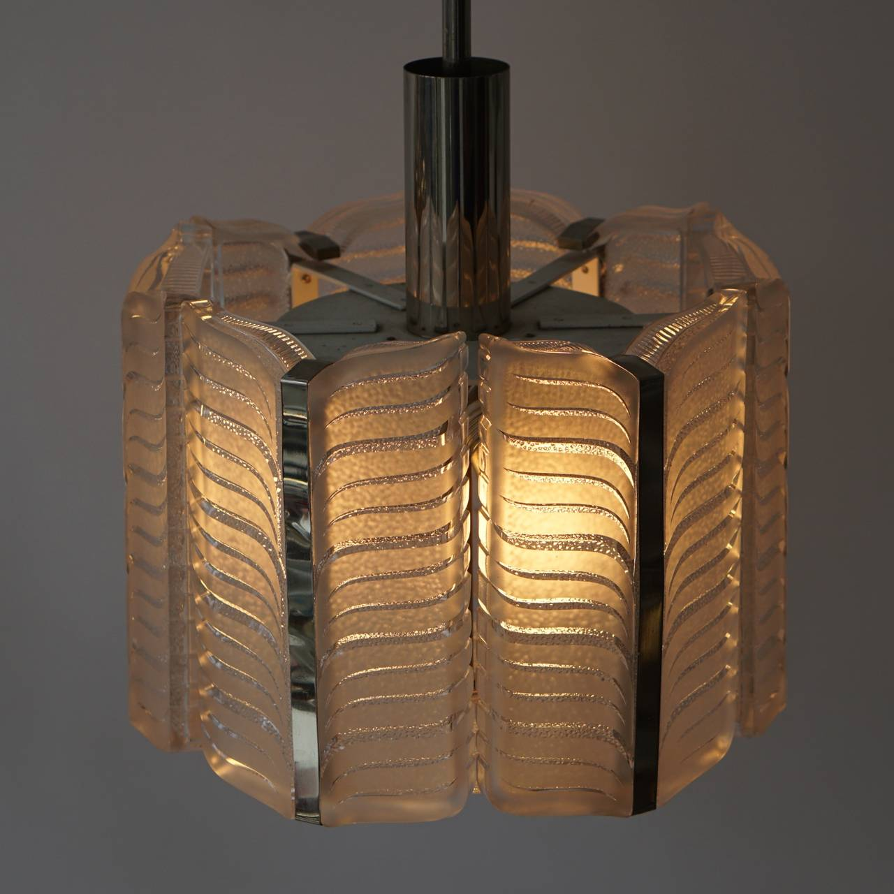 Italian Murano Glass Pendant Light For Sale 3