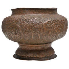 Unique and Beautiful Hammered and Chiseled Copper Vase