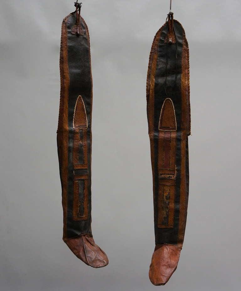 Tuareg nomadic people leather boots.