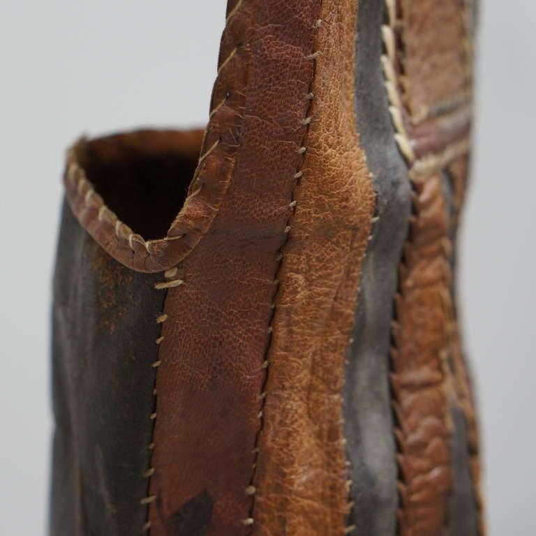 Leather Rare Tuareg Nomadic Boots For Sale