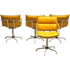 Four Beautiful Swivel Chairs