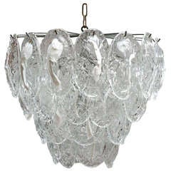 Large Murano Chandelier with 40 Glass Leaves