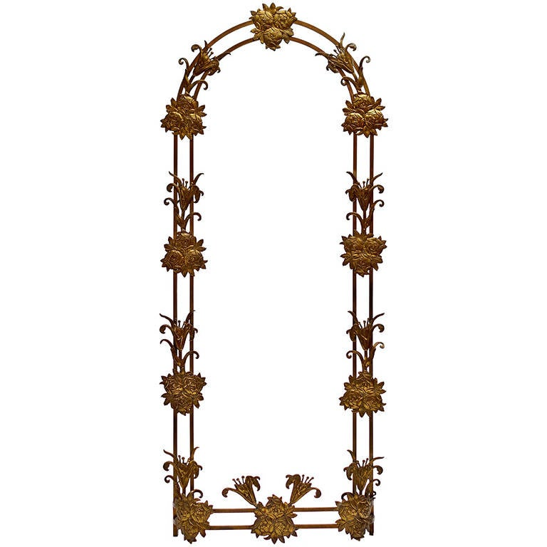 Gilt Bronze Art Deco Hall Frame