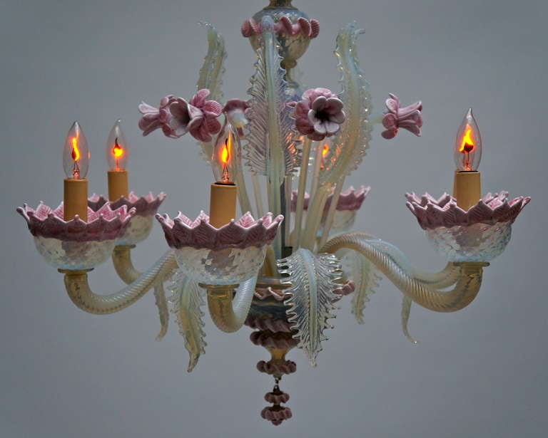 Italian Murano Glass Chandelier For Sale 1