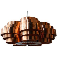 Danish Pendant by Verner Schou for Coronell Elektr