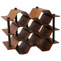 Torsten Johansson Wine Rack in Rosewood by AB Formträ in Sweden