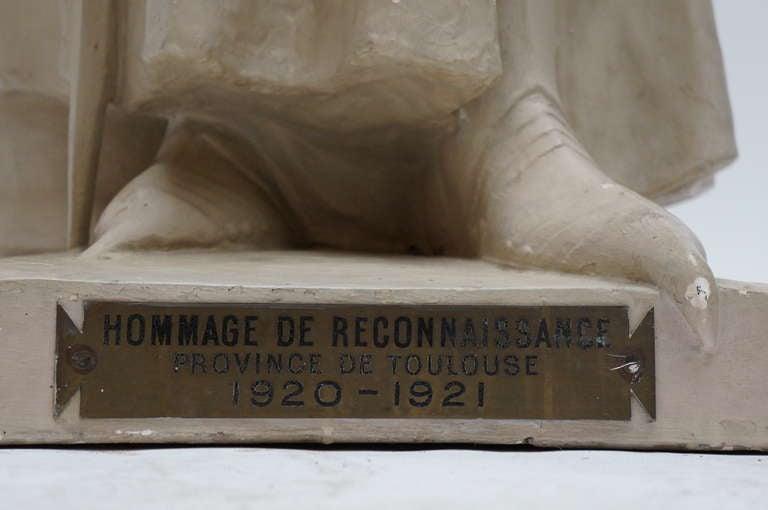 Lifesize Plaster Sculpture Representing Jeanne d'Arc For Sale 1
