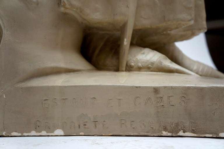 Lifesize Plaster Sculpture Representing Jeanne d'Arc For Sale 2