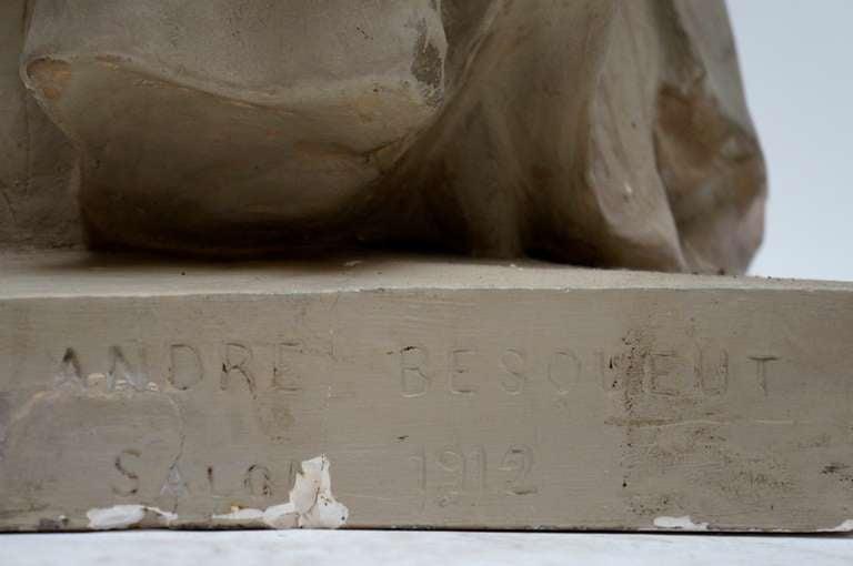 Lifesize Plaster Sculpture Representing Jeanne d'Arc For Sale 3