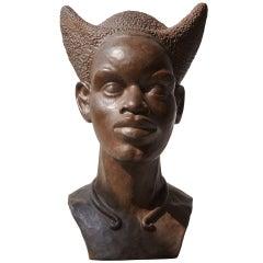 Bust of a Congolese Mangbetu Woman by F.X. Goddard