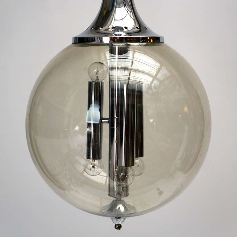 Mid-Century Modern Murano Blown Glass Chandelier For Sale
