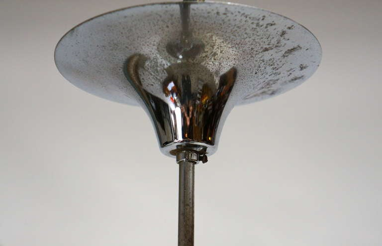 Metal Murano Blown Glass Chandelier For Sale
