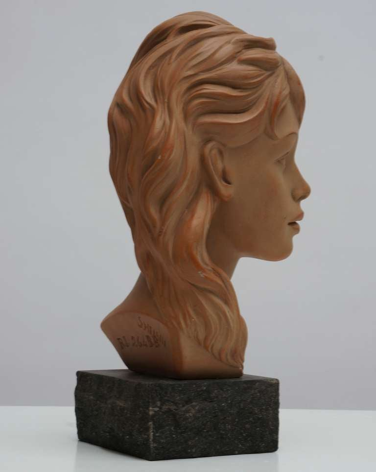 Terracotta Bust  For Sale 3